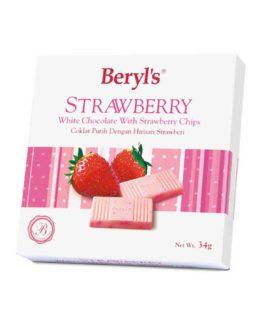 BERYL'S STRAWBERRY WHITE CHOC 34G