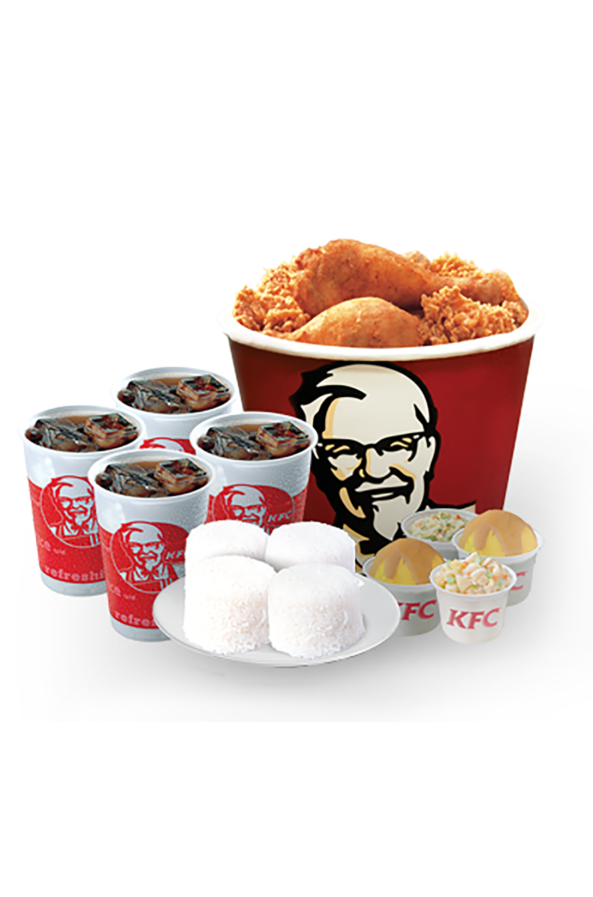 Food; People; Community; Environment; Nutrition. KFC is proud of the improvements they have made to their high quality food and remain committed to improving the overall nutritional makeup of its products.