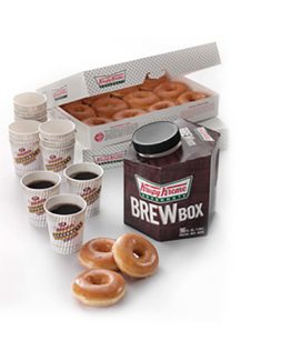 2 Dozens Original Glazed Doughnut with 1 Regular Brew Box