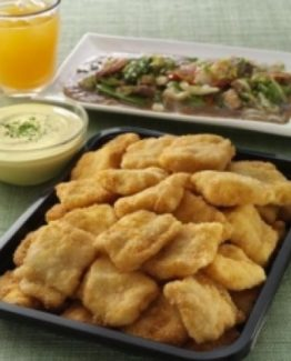 CATER TRAY CREAM DORY NUGGETS WITH HONEY MUSTARD DIP